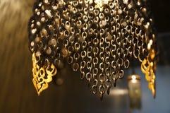 Востоковедный бронзовый светильник Стоковая Фотография