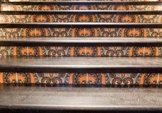 востоковедный орнаментированный тип лестниц Стоковые Фотографии RF