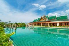 Востоковедный курорт на солнечный день Стоковое Изображение