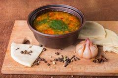 Востоковедный суп Стоковые Изображения