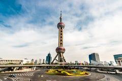 Востоковедный фарфор Пудуна Шанхая башни жемчуга Стоковые Фото