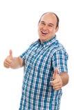 Восторженные большие пальцы руки человека вверх Стоковая Фотография