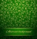 Восточная абстрактная предпосылка в зеленом цвете и золоте. Стоковое Фото
