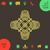 Восточная арабская картина логос элемент конструкции ваш Стоковое Изображение RF