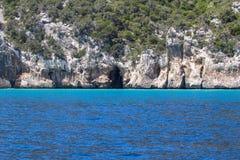 Восточная береговая линия на острове Сардинии, Италии Стоковое Фото