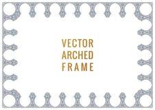 Восточная винтажная карточка свода Рамка арабского орнамента флористическая Элементы дизайна шаблона в восточном стиле бесплатная иллюстрация