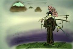 восточная девушка иллюстрация штока