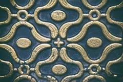Восточная картина, золотая на темной текстуре предпосылки стоковые изображения rf