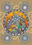 Восточная крышка меню кофе Стоковые Изображения