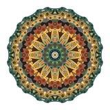 Восточная мандала Орнаментальная картина круга Стоковая Фотография