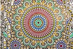 Восточная мозаика в Марокко Стоковая Фотография