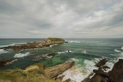 Восточная оконечность испанской части земли Баскония стоковое изображение rf