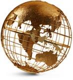 восточная полусфера глобуса Стоковое фото RF