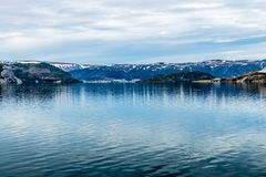 Восточная рука залива Bonne, национального парка Gros Morne, Ньюфаундленда стоковые изображения