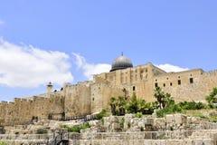 Восточная стена старого города Иерусалима, Стоковое фото RF