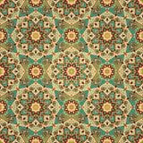 Восточное, богато украшенное, геометрическое оформление Стоковые Изображения