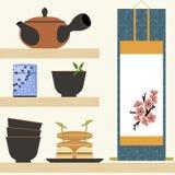 Восточное время чая бесплатная иллюстрация