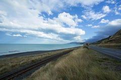 Восточное побережье около Kaikoura Новой Зеландии Стоковые Фото