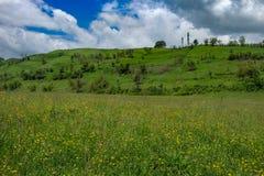 Восточно-европейский пейзаж - область Трансильвании Стоковое Изображение