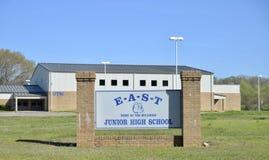 Восточные бульдоги средних старших классов средней школы, Somerville, TN стоковое фото rf