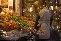 Восточные рынки и их десерты стоковая фотография rf