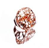 Восточные турецкие кольца золота и серебра handmade на белой предпосылке Стоковые Фотографии RF