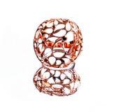Восточные турецкие кольца золота handmade на белой предпосылке Стоковые Фотографии RF