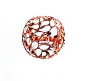 Восточные турецкие кольца золота handmade на белой предпосылке Стоковые Фото