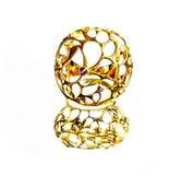 Восточные турецкие кольца золота handmade на белой предпосылке Стоковое Изображение RF