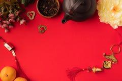 Восточные украшения и комплект чая Стоковое Изображение