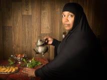 Восточные чай и даты Стоковое Фото