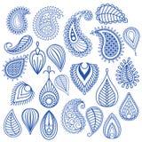 Восточные doodles лист Стоковые Изображения RF
