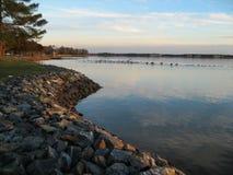 Восточный берег Riprap Стоковое Изображение RF
