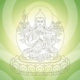 Восточный бог иллюстрация штока