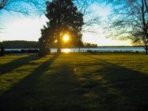 Восточный восход солнца берега Стоковые Изображения RF
