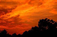 восточный заход солнца Теннесси Стоковые Фото