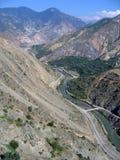 восточный индюк дороги высокой горы Стоковые Изображения