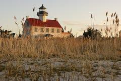 Восточный маяк пункта в Нью-Джерси стоковые фото