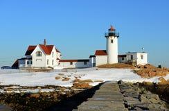 Восточный маяк пункта, накидка Энн, Массачусетс Стоковые Фотографии RF