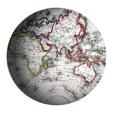 восточный мир полусферы глобуса Стоковые Фото
