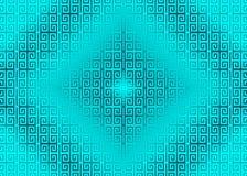 Восточный, орнаментальный, китайский, арабский, исламский, Cyan, неоновый зеленый цвет, предпосылка текстуры картины Imlek, Рамаз бесплатная иллюстрация