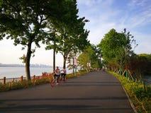 Восточный путь зеленого цвета озера Стоковые Фотографии RF