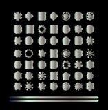 Восточный серебряный комплект картины Стоковые Фотографии RF
