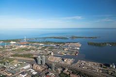 Восточный Торонто от воздуха стоковая фотография