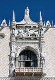 Восточный фасад дворца дожа, Венеции (Италия) Стоковые Фото
