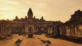 Восточный фасад, Angor Wat, Камбоджа Стоковое фото RF