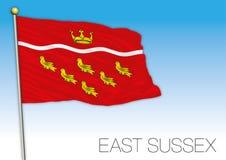 Восточный флаг Сассекс, Великобритания, иллюстрация вектора бесплатная иллюстрация