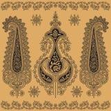 Восточный флористический орнамент иллюстрация штока