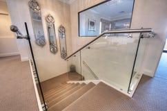 Восхитительный дом интерьера 2 этажей Стоковое Изображение