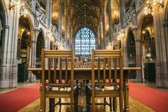 Восхитительный старый интерьер библиотеки Джона Rylands стоковая фотография rf